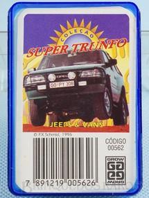 1. Brinquedos antigos - Grow - Jogo Super Trunfo Jeeps e Vans Década de 1990
