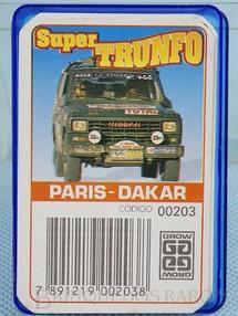 1. Brinquedos antigos - Grow - Jogo Super Trunfo Paris Dakar Década de 1980