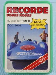 1. Brinquedos antigos - Grow - Jogo de Trunfo Recorde sobre rodas Década de 1980