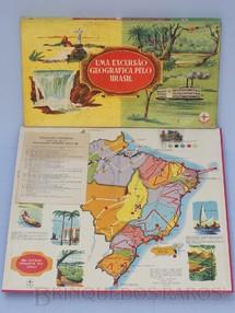 Brinquedos Antigos - Estrela - Jogo Uma Excursão Geográfica Pelo Brasil Série Certame Instrutivo Prof. Alcides Nascimento Caixa Datada 06 Dezembro de 1967