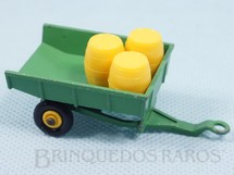 Brinquedos Antigos - Matchbox - John Deere Trailer Black Plastic Regular Wheels