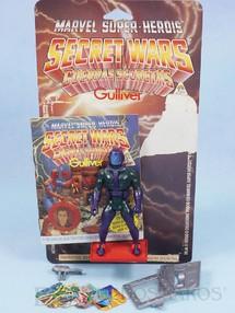 Brinquedos Antigos - Casablanca e Gulliver - Kang o Conquistador Secret Wars Completo com Escudo e Arma acompanham Revista e Cartela Originais Ano 1986