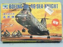 1. Brinquedos antigos - Huan Chiu - Kit do Helicóptero Boeing UH-46 SEA Knight cópia do Kit da Airfix Década de 1990 Bom estado completo