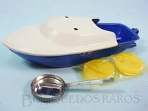 1. Brinquedos antigos - Sem identificação - Lancha Pop Pop azul reprodução Década de 1990