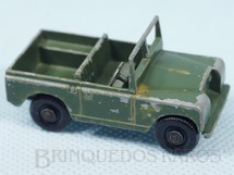 1. Brinquedos antigos - Matchbox - Land Rover Black Plastic Regular Wheels