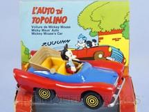 1. Brinquedos antigos - Politoys e Polistil - Le Auto di Topolino Carro do Mickey 10,00 cm de comprimento Walt Disney Polistil Década de 1970