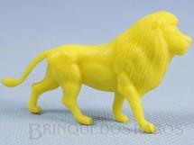 1. Brinquedos antigos - Casablanca e Gulliver - Leão de plástico amarelo Série Zoológico Década de 1970