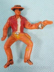 1. Brinquedos antigos - Casablanca e Gulliver - Little Joe Cartwrith montado a cavalo com revolver Série Fazenda Ponderossa