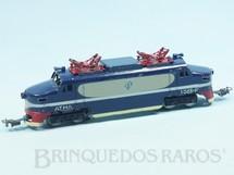 1. Brinquedos antigos - Atma - Locomotiva Elétrica Companhia Paulista Corrente Alternada Atma Mirim Década de 1950