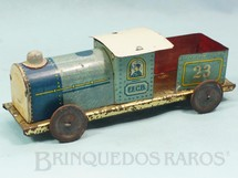 1. Brinquedos antigos - EVA - Locomotiva Tender Estrada de Ferro Central do Brasil com 17,00 cm de comprimento Ano 1937