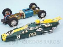 1. Brinquedos antigos - Estrela - Lotus 38 Fórmula 1 Verde 100% original Chassi de latão Ano 1968