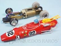 1. Brinquedos antigos - Estrela - Lotus 38 Fórmula 1 Vermelha 100% original Chassi de latão Ano 1968