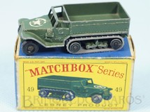1. Brinquedos antigos - Matchbox - M3 Personal Carrier Black Plastic Regular Wheels