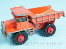 Brinquedos Antigos - Matchbox - Mack Dump Truck black plastic Regular Wheels