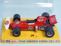 Brinquedos Antigos - Politoys e Polistil - March Ford 721 Formula 1 piloto Ronnie Peterson Politoys Ano 1972