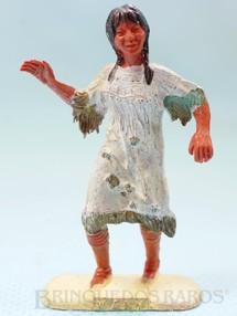 1. Brinquedos antigos - Wany - Menina índia com 5,5 cm de altura Matriz da Figura Raio de Sol fabricada pela Casablanca Década de 1950 Coleção Miguel Cerrato