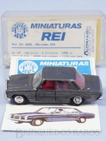 1. Brinquedos antigos - Schuco-Rei - Mercedes Benz 200 cinza metálica Schuco Modell Brasilianische Schuco Rei completo com Catálogo e Cromo