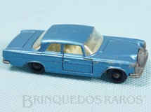 Brinquedos Antigos - Matchbox - Mercedes Benz 300 SE azul metálico black plastic Regular Wheels