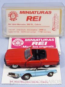 1. Brinquedos antigos - Schuco-Rei - Mercedes Benz 350 SL Cabrio vermelha Schuco Modell Brasilianische Schuco Rei completa com Catálogo e Cromo