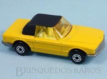 1. Brinquedos antigos - Matchbox - Mercedes Benz 350 SL Tourer Superfast amarelo com capota