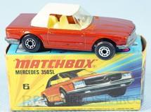 Brinquedos Antigos - Matchbox - Mercedes Benz 350 SL Tourer Superfast bronze metálico com capota