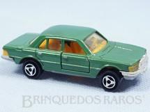 1. Brinquedos antigos - Majorette-Kiko - Mercedes Benz 450 SE Verde escuro Majorette Brésilien Kiko Década de 1980
