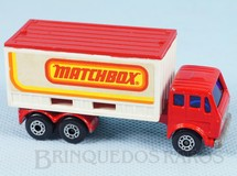 Brinquedos Antigos - Matchbox - Mercedes Benz Container Truck Superfast Matchbox