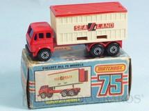 1. Brinquedos antigos - Matchbox - Mercedes Benz Container Truck Superfast Sea Land