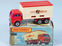 Brinquedos Antigos - Matchbox - Mercedes Benz Container Truck Superfast Sea Land