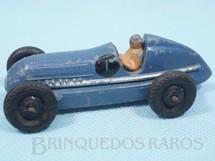 1. Brinquedos antigos - Dinky Toys - Mercedes Benz Racing Car azul Ano 1947 a 1950