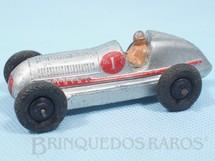 1. Brinquedos antigos - Dinky Toys - Mercedes Benz Racing Car prateado Ano 1947 a 1950