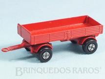 1. Brinquedos antigos - Matchbox - Mercedes Trailer Superfast vermelho