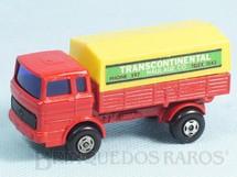 1. Brinquedos antigos - Matchbox - Mercedes Truck Superfast vermelho Transcontinental Label