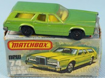 Brinquedos Antigos - Matchbox - Mercury Cougar Villager Superfast verde metálico