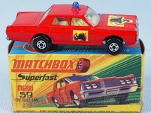 Brinquedos Antigos - Matchbox - Mercury Fire Chief Car Superfast