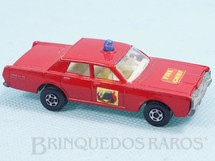 1. Brinquedos antigos - Matchbox - Mercury Fire Chief Car Superfast