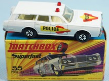 1. Brinquedos antigos - Matchbox - Mercury Commuter Police Car Superfast