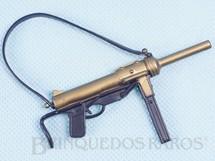 Brinquedos Antigos - Estrela - Metralhadora de mão preta e dourada Aventura S.O.S. Cruz Vermelha Ano 1978