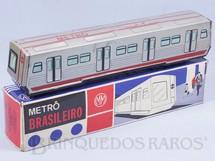 1. Brinquedos antigos - Metalma - Metrô Brasileiro Metalma 34,00 cm de comprimento Primeiro e único Brinquedo relacionado ao Metrô de São Paulo Década de 1970