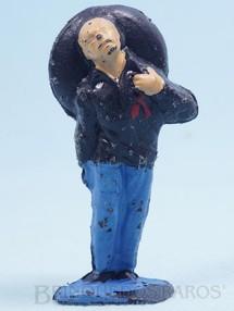 Brinquedos Antigos - Casablanca e Gulliver - Mexicano ferido Habitante da aldeia Calça azul claro Série O Zorro distribuído pela Trol Década de 1970