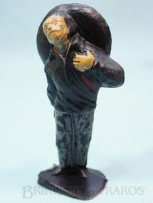 1. Brinquedos antigos - Casablanca e Gulliver - Mexicano ferido Habitante da aldeia Calça cinza Série O Zorro distribuído pela Trol Década de 1970