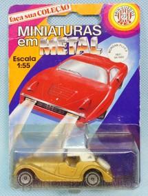 1. Brinquedos antigos - Siku-Rei - Morgan Plus 8 dourado Brasilianische Siku Blister Lacrado Alfema