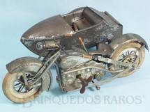 1. Brinquedos antigos - Sem identificação - Motocicleta com Sidecar 25,00 cm de comprimento Farol à pilha Década de 1920