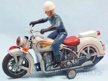 1. Brinquedos antigos - Modern Toys e Masudaya Toys - Motocicleta de Policia com Policial 30,00 cm de comprimento Década de 1970