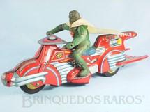 1. Brinquedos antigos - Bandai - Motocicleta do Super Homem Atom Super Cycle com 31,00 cm de comprimento 100% original Década de 1950