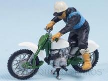 1. Brinquedos antigos - Britains - Motocicleta Greeves Challenger Scrambler com motociclista Década de 1970