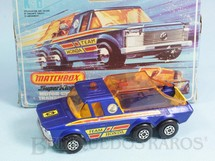 1. Brinquedos antigos - Matchbox - Caminhonete Motor-Cycle Transporter Tean Honda Super Kings Década de 1970