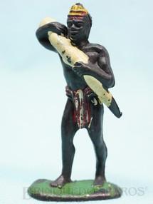 1. Brinquedos antigos - Casablanca e Gulliver - Nativo Carregador com Marfim Série Safari na África Década de 1970