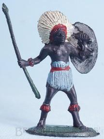 Brinquedos Antigos - Casablanca e Gulliver - Nativo com Lança e Escudo Série África Misteriosa Década de 1970