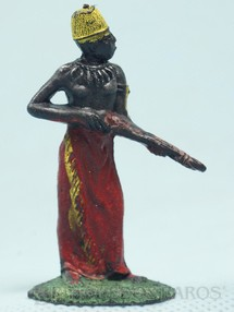 1. Brinquedos antigos - Casablanca e Gulliver - Nativo de pé com Rifle Série Safari na África Década de 1970
